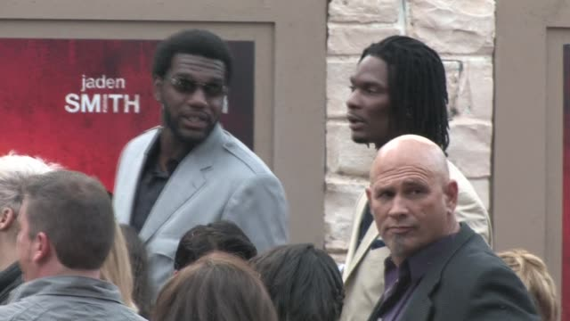 Greg Oden Chris Bosh at The Karate Kid Premiere in Westwood at the Celebrity Sightings in Los Angeles at Los Angeles CA