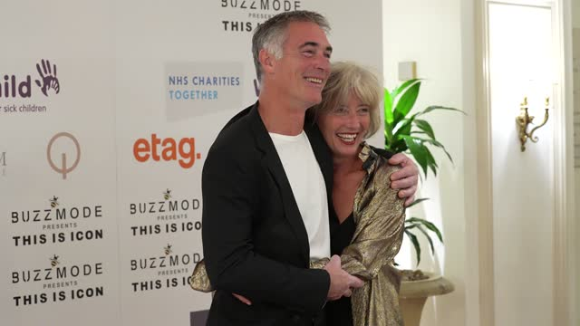 gregg wise, emma thompson attends the icon ball 2021 during london fashion week september 2021 at the landmark hotel on september 17, 2021 in london,... - hd format stock videos & royalty-free footage