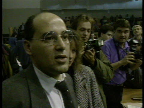 gregor gysi elected communist party leader east germany east berlin int dr gregor gysi standing to acknowledge applause dr gregor gysi sed leader... - east berlin stock videos and b-roll footage