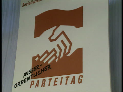 gregor gysi elected communist party leader east germany east berlin ext sports hall where communist party holding meeting int delegate nodding off... - east berlin stock videos and b-roll footage