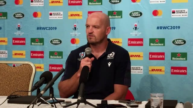 gregor townsend insists scotland are not under extra pressure despite admitting they face world cup elimination if they fail to beat samoa on monday... - pacific islander stock videos & royalty-free footage