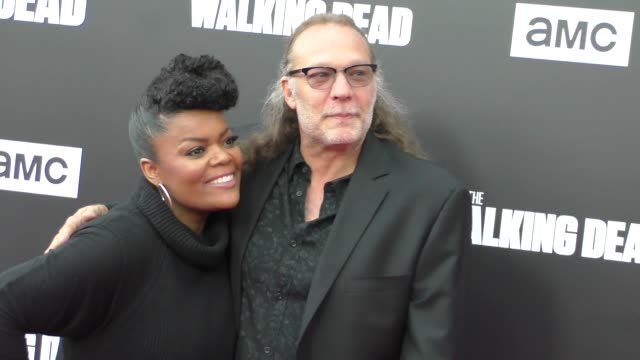 Gregory Nicotero Yvette Nicole Brown at AMC presents 'Talking Dead Live' for the premiere of 'The Walking Dead' on October 23 2016 in Hollywood...