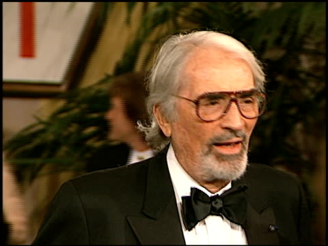 gregory peck at the afi honoring martin scorcese at the beverly hilton in beverly hills california on february 20 1997 - gregory peck stock videos and b-roll footage