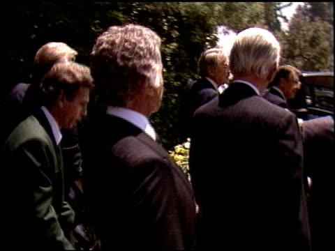 gregory peck at the funeral for vincente minnelli on july 25 1986 - gregory peck stock videos and b-roll footage