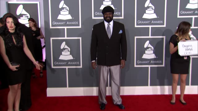 gregory porter at the 55th annual grammy awards arrivals in los angeles ca on 2/10/13 - grammy awards stock videos and b-roll footage