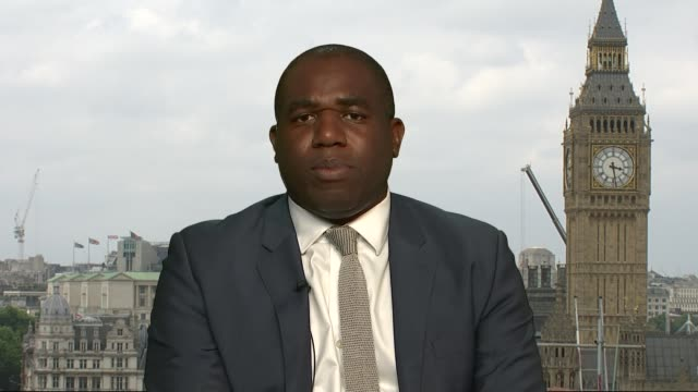 11 council estates identified as having similar combustible cladding david lammy mp 2way interview from westminster sot - parlamentsmitglied stock-videos und b-roll-filmmaterial