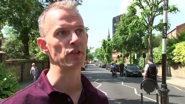 12 deaths confirmed london kensington david collins interview sot - jackie long stock videos & royalty-free footage