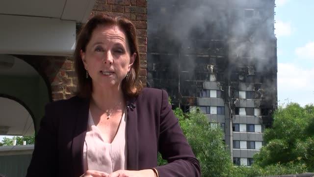 12 deaths confirmed london kensington reporter to camera - jackie long stock videos & royalty-free footage
