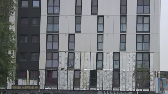 Conflict of interest fears over cladding company's involvement in testing Greater Manchester Salford Various shots Kingspan insulation visible on...