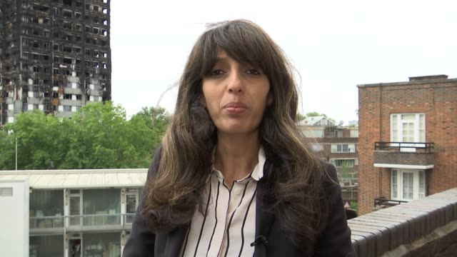 Deadline for submitting inquiry questions approaches Samia Badani interview SOT **Badani overlaid SOT ** Burnt out remains of Grenfell Tower seen...