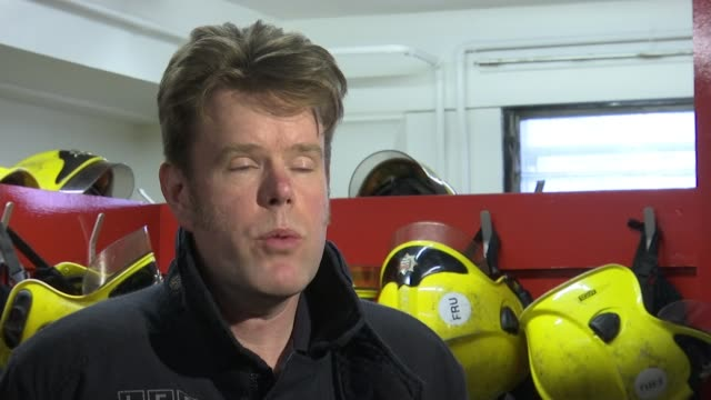 Firefighters who tried to save lives at Grenfell to run the London Marathon INT Guy Tillotson interview SOT On amount of time spent in the tower it...