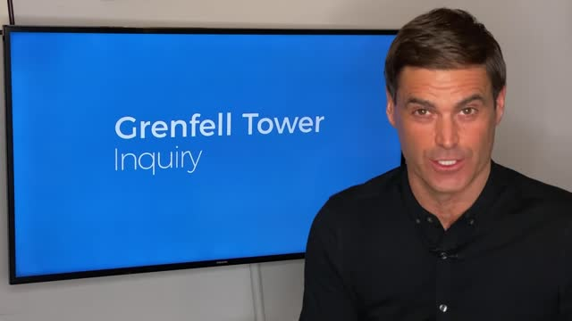 grenfell tower fire inquiry: inquiry hears about warning about flammable insulation; eng;and: london: int reporter to camera sot - flammable stock videos & royalty-free footage