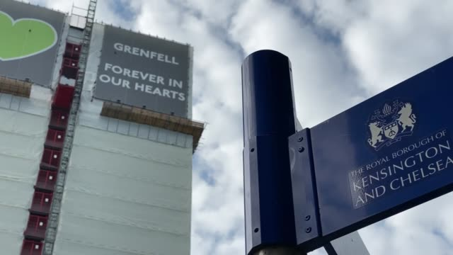 grenfell tower fire inquiry: installer of flammable cladding had no fire safety training and never read the installation instructions; england:... - 可燃性点の映像素材/bロール