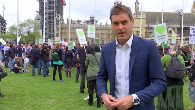 grenfell tower fire inquiry: parliament square protest; parliament square: ext 'united for grenfell' protesters gathered with placards in parliament... - michael sheen bildbanksvideor och videomaterial från bakom kulisserna