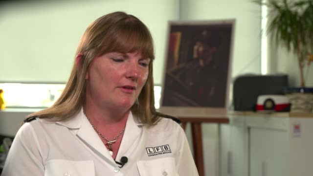 Interview with London Fire Brigade commissioner Dany Cotton ENGLAND London INT Dany Cotton interview SOT
