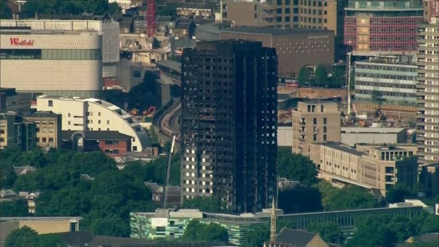 kensington and chelsea council chief executive forced to stand down north kensington latimer road grenfell tower - jackie long stock videos & royalty-free footage