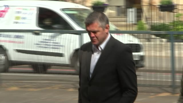 Man pleads not guilty over burning effigy video ENGLAND London Westminster Magistrates' Court EXT Paul Bussetti arriving at court