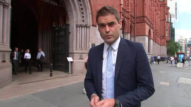 man who predicted fire appears before mps; england: london: holborn bars: ext reporter to camera - mp stock videos & royalty-free footage
