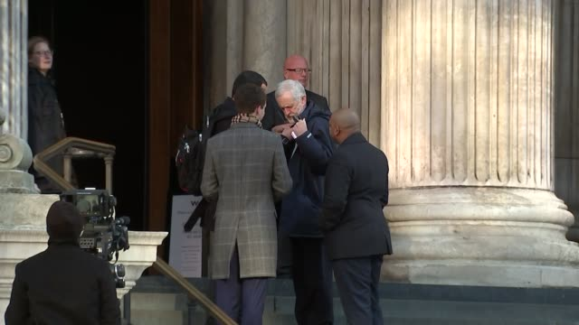 memorial service arrivals england london st paul's cathedral ext jeremy corbyn mp and diane abbot mp arriving for grenfell tower memorial service /... - memorial event stock videos and b-roll footage