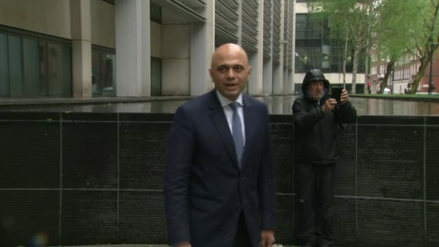 new housing secretary james brokenshire says grenfell families are priority; **dent coad interview overlaid sot** sajid javid mp posing for press... - mp stock videos & royalty-free footage