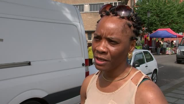 notting hill carnival to include special ceremony for victims alleyne degazon interview sot - itv london tonight weekend stock videos & royalty-free footage
