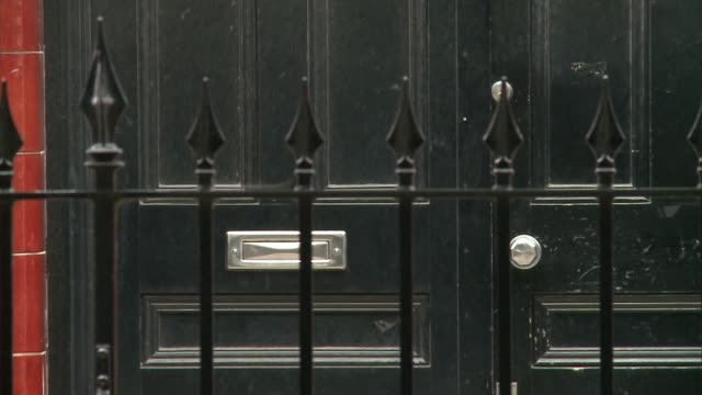 owners of empty kensington and chelsea homes revealed england london ext railings and front door windows of house house number outside building - kensington and chelsea stock videos & royalty-free footage