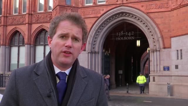 Petition delivered by families with request to overhaul inquiry London Holborn Bars EXT Reporter to camera