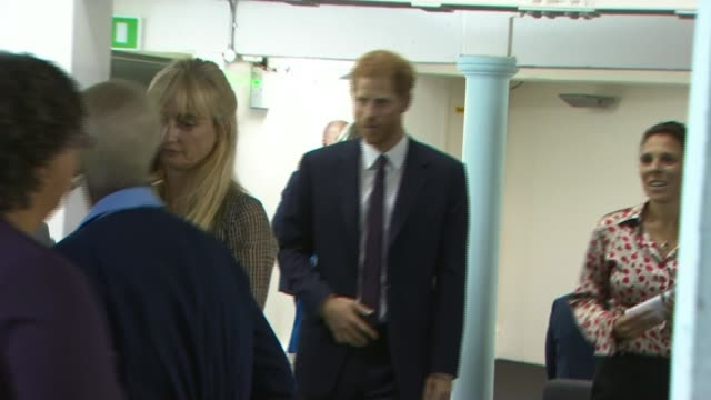 Prince William and Prince Harry visit new community centre ENGLAND London North Kensington PHOTOGRAPHY *** Prince William and Prince Harry through...