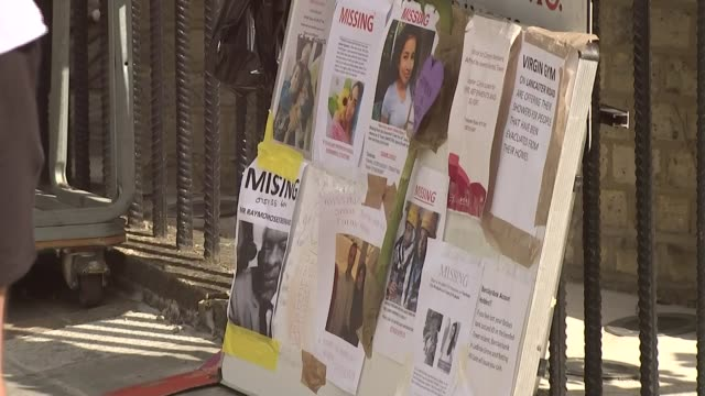 Residents remain angry one month on as government threatens to take control of local council T19061733 / TX Missing people posters Police officers...