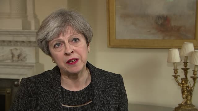 Theresa May interview ENGLAND London Downing Street Number 10 INT Theresa May MP interview SOT on visiting Grenfell on need for public inquiry