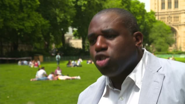 victims and missing people england london westminster ext david lammy mp interivew sot this is about the welfare state and that means housing and... - safety net stock videos and b-roll footage
