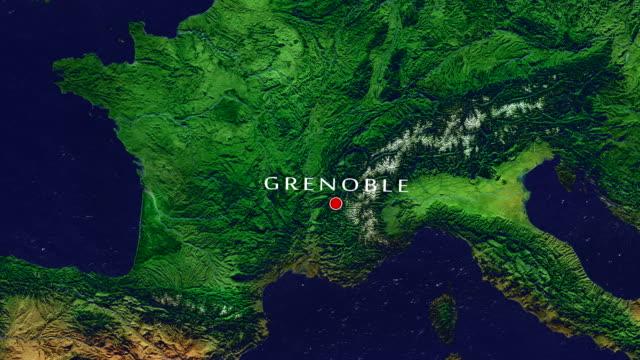 grenoble-zoom in - grenoble stock-videos und b-roll-filmmaterial