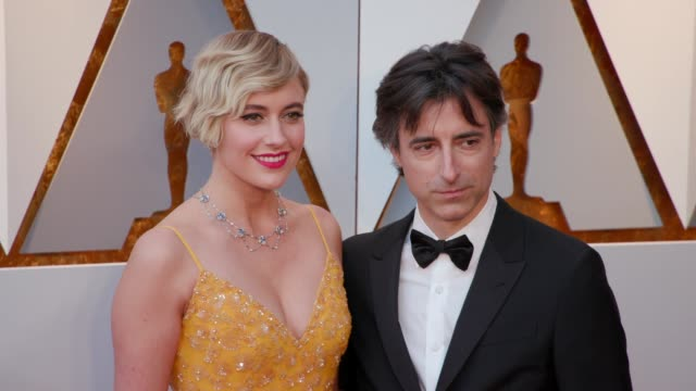 vidéos et rushes de greta gerwig and noah baumbach at 90th academy awards arrivals at dolby theatre on march 04 2018 in hollywood california - cérémonie des oscars