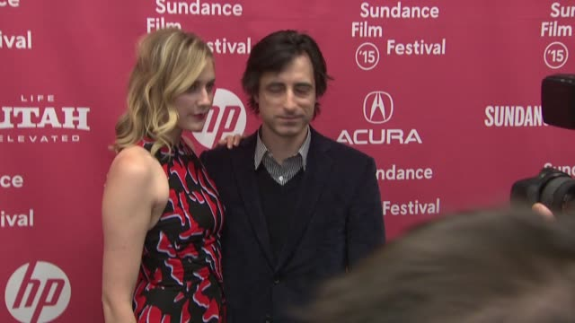 greta gerwig and noah baumbach at the mistress america premiere sundance film festival 2015 at eccles center theatre on january 24 2015 in park city... - noah baumbach stock videos and b-roll footage