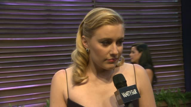 greta gerwig at the 2014 vanity fair oscar party hosted by graydon carter - arrivals on march 02, 2014 in west hollywood, california. - vanity fair oscar party stock videos & royalty-free footage