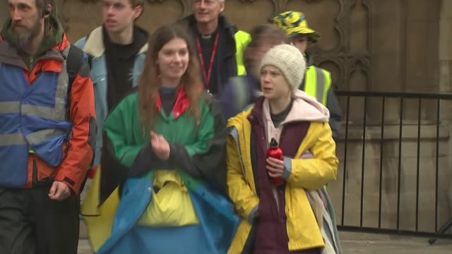 greta thunberg joins children taking part in school strike in bristol in protest at lack of action to tackle climate change england bristol ext... - social issues stock videos & royalty-free footage