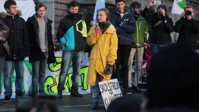 greta thunberg on december 10 2019 in turin italy the 16yearold environmental activist greta thunberg just been elected time magazine's person of the... - friday stock videos & royalty-free footage
