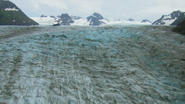 grewingk glacier on kenai peninsula - wildlife reserve stock videos & royalty-free footage