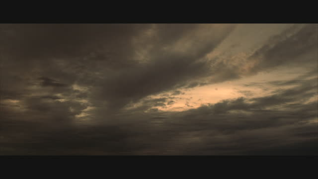 la, ws, grey clouds on dramatic sky  - ominous stock videos & royalty-free footage