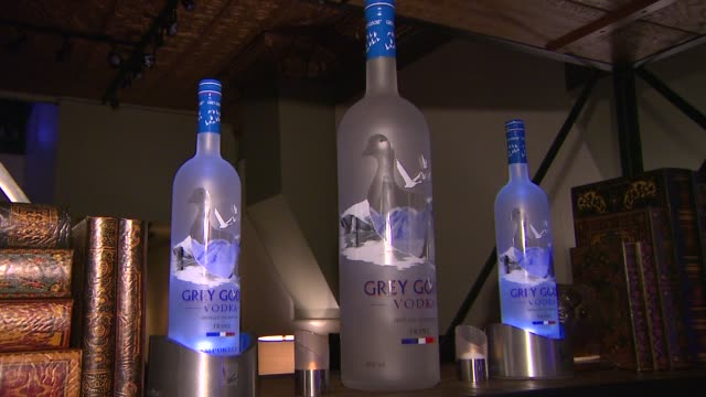 grey goose signage at grey goose blue door hosts rudderless party during sundance film festival on in park city utah - park city utah video stock e b–roll