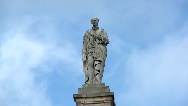 grey monument, newcastle upon tyne - human representation stock videos & royalty-free footage