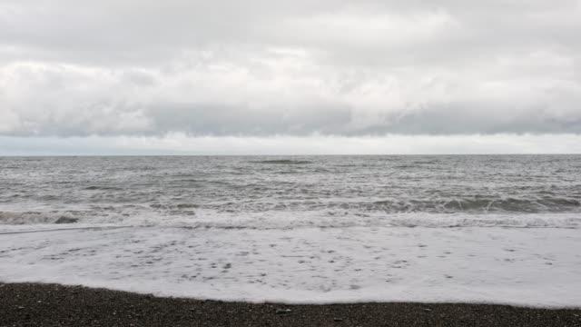 grey sea, grey sky - catherine macbride stock videos & royalty-free footage