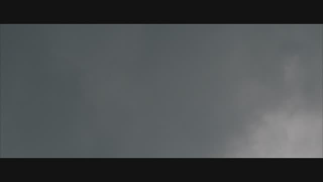 t/l, ms, la, grey wispy clouds on sky  - wispy stock videos & royalty-free footage