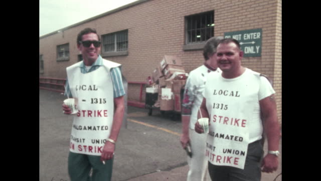 greyhound bus drivers transit union on strike transportation conflict over pay nashville tennessee - employment issues stock videos & royalty-free footage