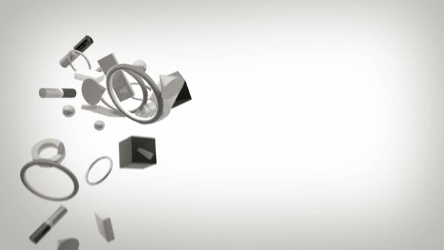 Greyscale Formen Hintergrund-weiße (HD