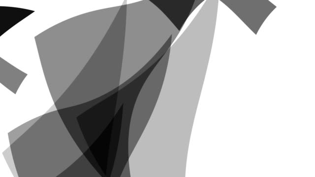 distorted triangle : greyscale, vortex, white back (transition) - part of a series stock videos & royalty-free footage