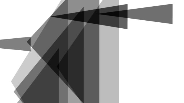 distorted triangle : greyscale, white back (transition) - greyscale stock videos & royalty-free footage