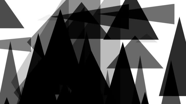 distorted triangle : greyscale, white back (loop) - greyscale stock videos & royalty-free footage