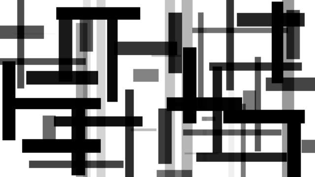distorted rectangle : greyscale, white back (loop) - greyscale stock videos & royalty-free footage