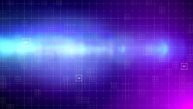 グリッド抽象背景 - ワイヤーフレームモデル点の映像素材/bロール